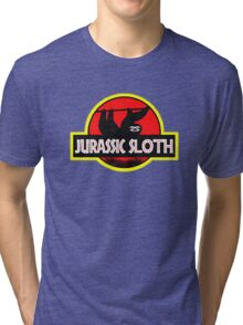 Jurassic Sloth! Tri-blend T-Shirt