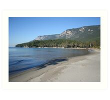 A Deserted Beach An Unspoiled Beauty Art Print