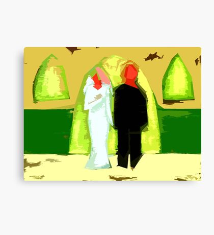 BLUSHING BRIDE AND GROOM 2 Canvas Print