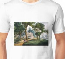 A mansion of the olden time - Currier & Ives - 1907 Unisex T-Shirt