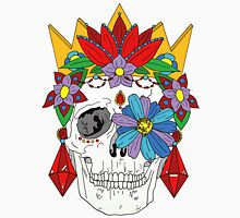 Royal Dead, Floral Crown Sugar Skull Men's Baseball ¾ T-Shirt