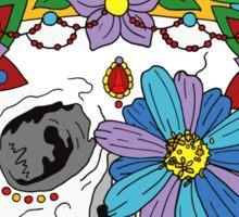 Royal Dead, Floral Crown Sugar Skull Sticker
