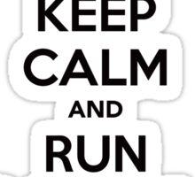 RUN BARRY RUN (The Reverse)! Sticker