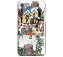 old town winter scene iPhone Case/Skin