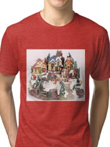 old town winter scene Tri-blend T-Shirt