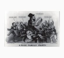 A nice family party - Currier & Ives - 1872 One Piece - Short Sleeve