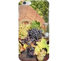 vineyard with grape and wine  iPhone Case/Skin