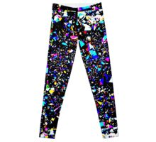 Placer colored crystals. Geode Leggings