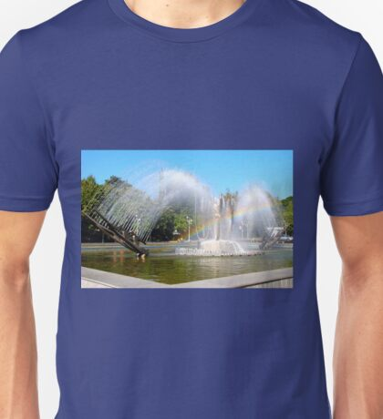 Kinetic Fountain, Cultural Palace, Drobeta Turnu Severin Unisex T-Shirt