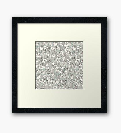 pencil pinatas Framed Print