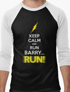 Keep Calm and RUN, BARRY... RUN! Men's Baseball ¾ T-Shirt
