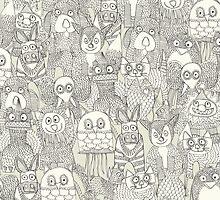 pencil pinatas ivory by Sharon Turner