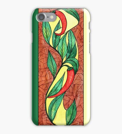 Hot red chili peppers iPhone Case/Skin