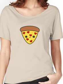 Cute pizza with heart toppings Women's Relaxed Fit T-Shirt