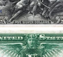 $5 (Five Dollar Bill) Silver Certificate Series of 1896 Sticker