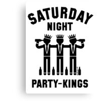 Saturday Night Party-Kings (Black) Canvas Print