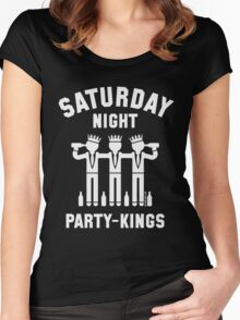 Saturday Night Party-Kings (White) Women's Fitted Scoop T-Shirt