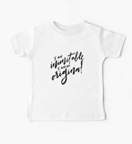 Wait For It - Black Text Baby Tee