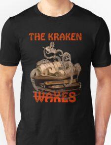 The Kraken Wakes steampunk book art Unisex T-Shirt