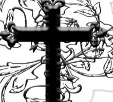 GOTHIC, GOTH, GRUNGE, CROSS, Vine, Christian, Crucifix, VAMPIRE Sticker