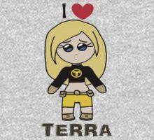 I ❤ Terra - Teen Titans One Piece - Short Sleeve