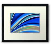 Abstract Fractal Colorways 01BL Framed Print