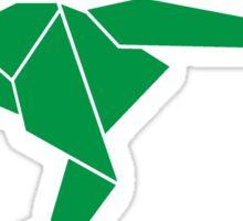 Origami T-Rex Sticker