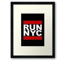 Run NYC Framed Print