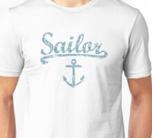 Sailor Anchor Vintage Sailing Design for Sailors Unisex T-Shirt