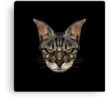 Angry Cyborg Cat  Canvas Print
