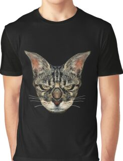 Angry Cyborg Cat  Graphic T-Shirt