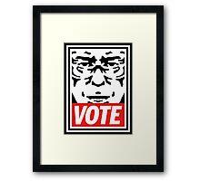 Bernie Obey Shirt - Shepard Fairey Endorses Bernie Sanders Framed Print