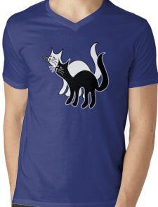 Black Cat White Cat Mens V-Neck T-Shirt