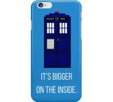 Doctor Who Tardis: It's Bigger on the Inside (Blue) iPhone Case/Skin