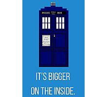 Doctor Who Tardis: It's Bigger on the Inside (Blue) Photographic Print