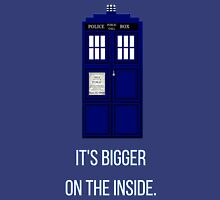 Doctor Who Tardis: It's Bigger on the Inside (Blue) Unisex T-Shirt