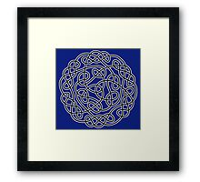 COMPLEX, KNOT, CELTIC, CELT, DRUID, Mandala Ireland, Irish, Eire, on Navy, Blue Framed Print