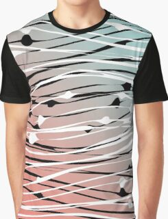Modern Chic Abstract Dots & Wavy Lines Gradient Graphic T-Shirt