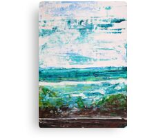 """Where Water meets Sky!"" - Big Original Wall Modern Abstract Landscape Art Painting Canvas Print"