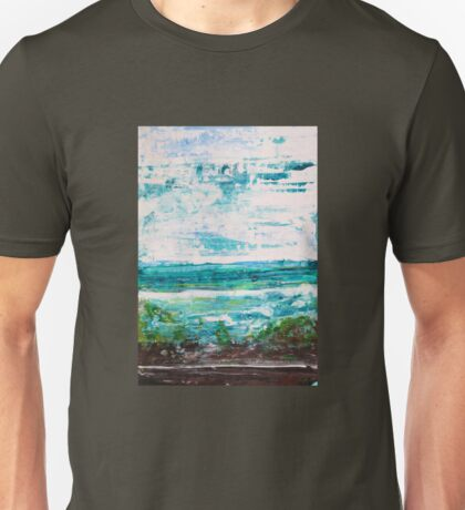"""Where Water meets Sky!"" - Big Original Wall Modern Abstract Landscape Art Painting Unisex T-Shirt"