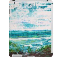 """""""Where Water meets Sky!"""" - Big Original Wall Modern Abstract Landscape Art Painting iPad Case/Skin"""