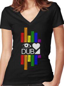 Dubstep Love Women's Fitted V-Neck T-Shirt