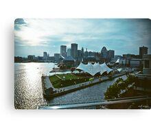Baltimore Harbor City Skyline  Canvas Print