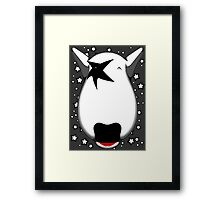 Kiss Bull Terrier Paul Stanley Framed Print