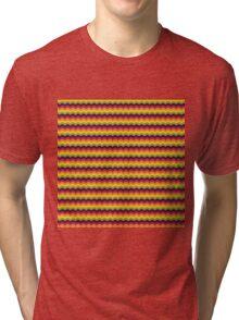 Fruit Tree Wave Pattern Tri-blend T-Shirt