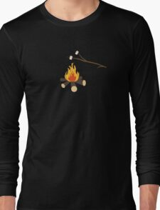 Campfire with marshmallows Long Sleeve T-Shirt