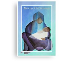 Merry Christmas Virgin Mary And Child  Canvas Print