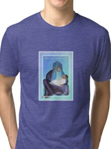 Merry Christmas Virgin Mary And Child  Tri-blend T-Shirt