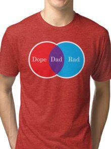 Dope Dad Rad Venn Diagram Tri-blend T-Shirt