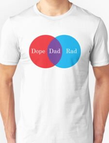 Dope Dad Rad Venn Diagram Unisex T-Shirt